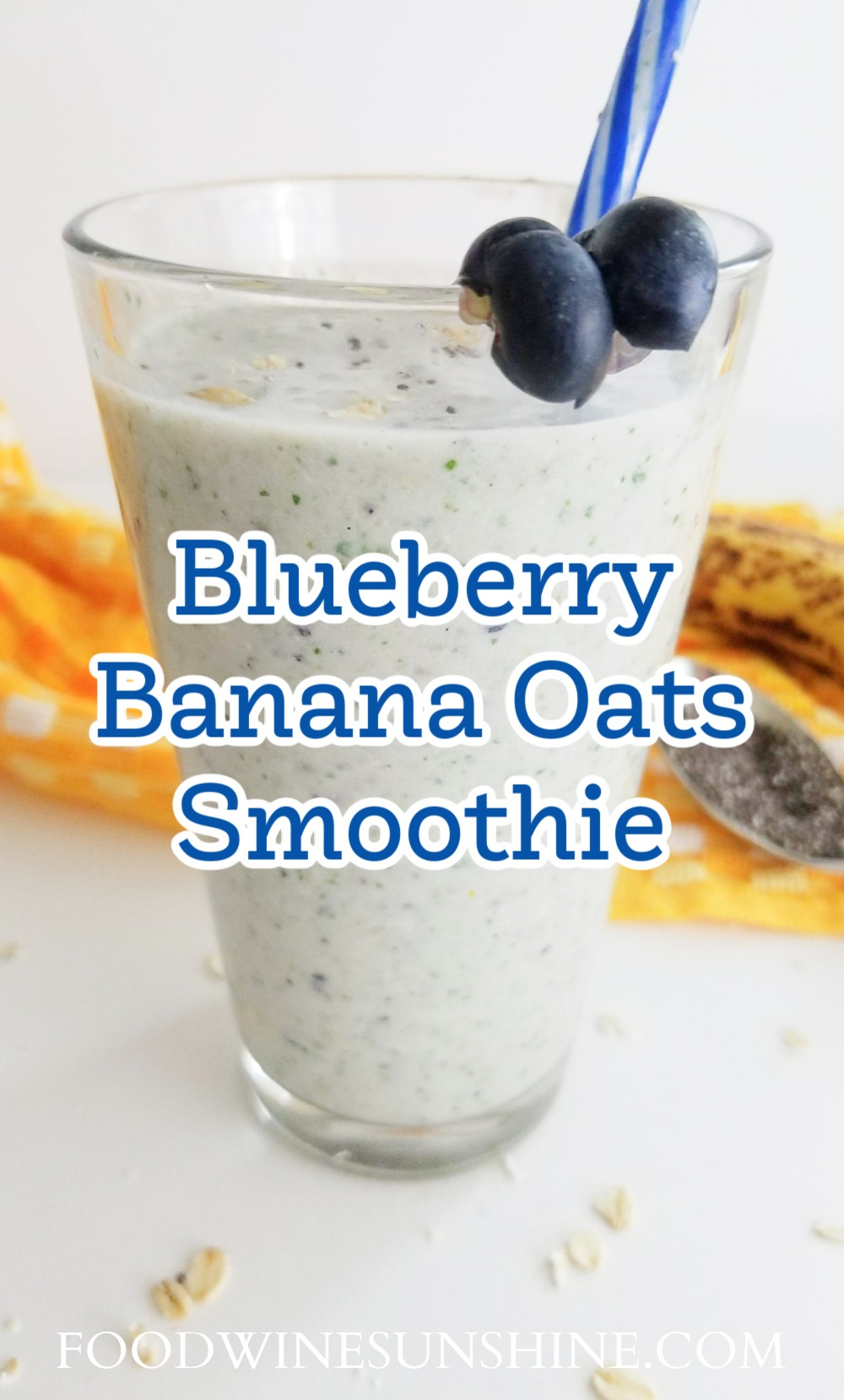 Blueberry Banana Oats Protein Smoothie