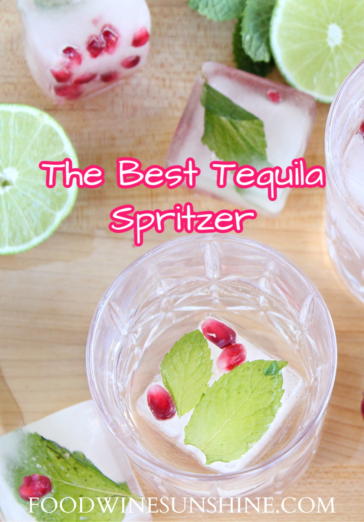 How to make a tequila spritzer