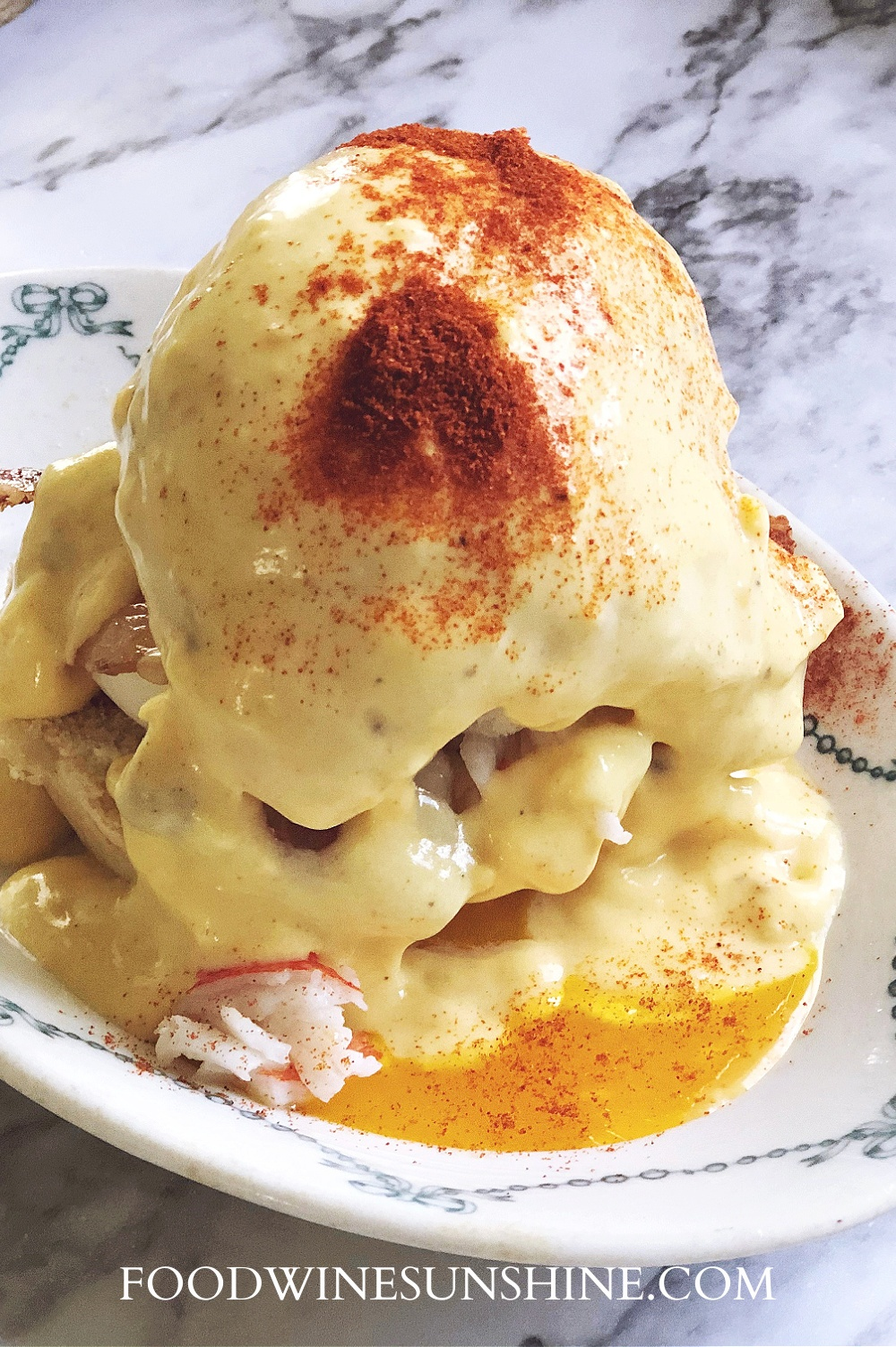 Eggs Benedict with Crab and Bacon