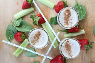 Healthy Smoothies Strawberry Green Smoothie