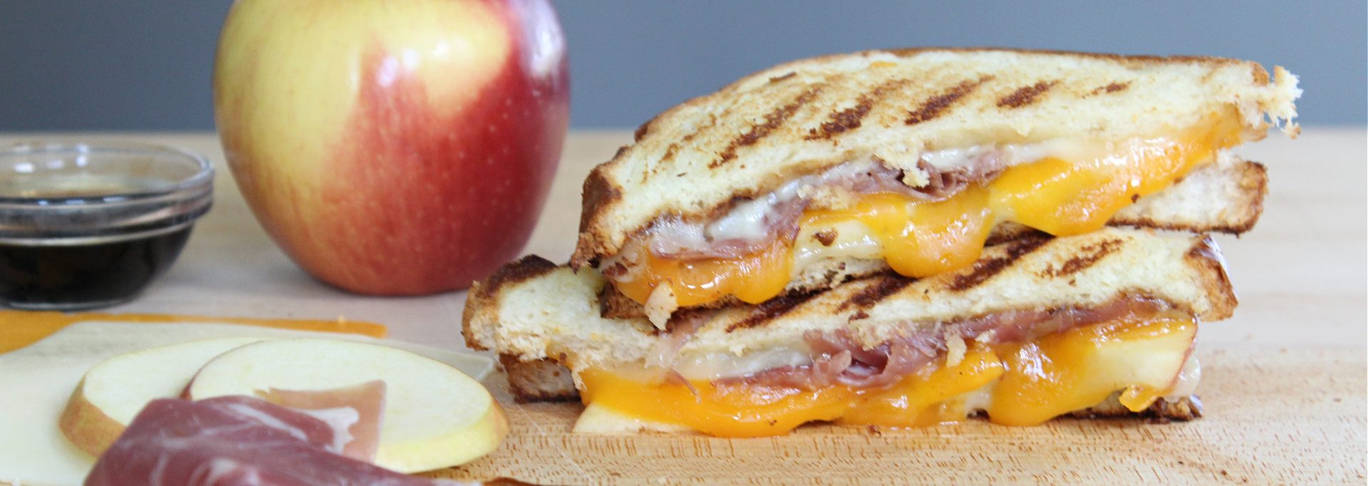 prosciutto apple grilled cheese