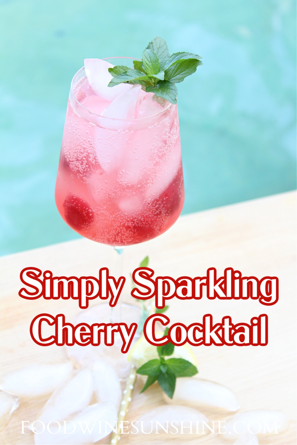 How To Make a Sparkling Cherry Vodka Cocktail