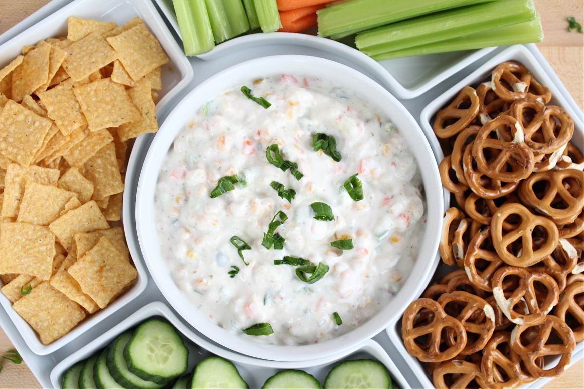 Easy Weight Watchers Vegetable Ranch Dip