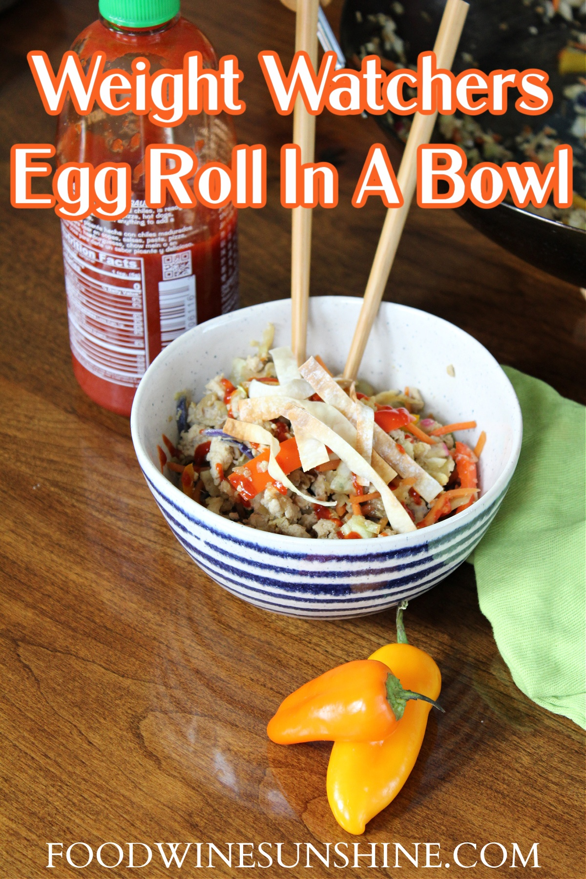 How To Make Weight Watchers Egg Roll In A Bowl