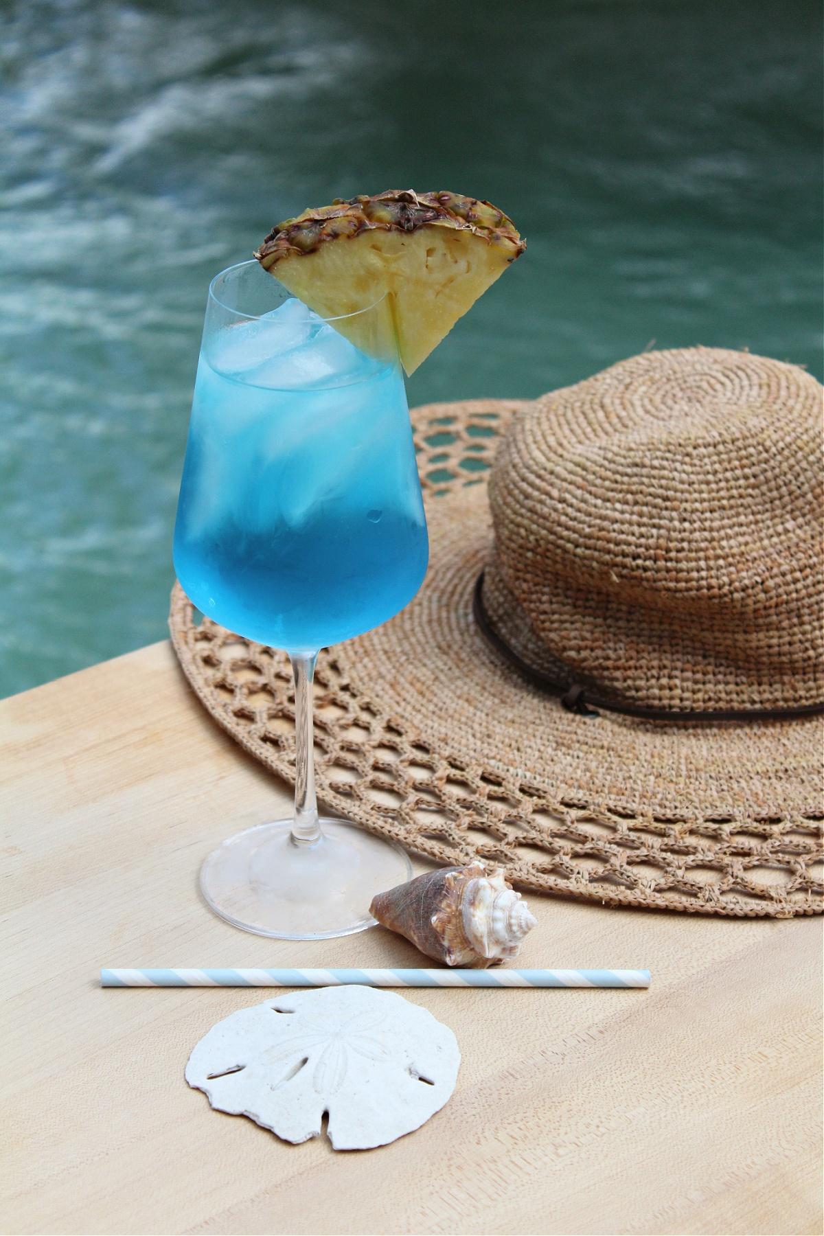 Blue Vodka Wine Cocktail