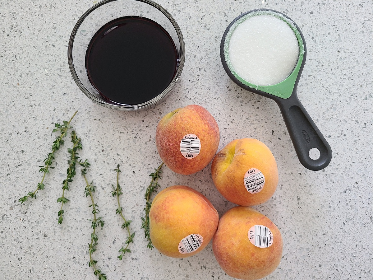 How To Make Oven Roasted Peaches Red Wine Dessert