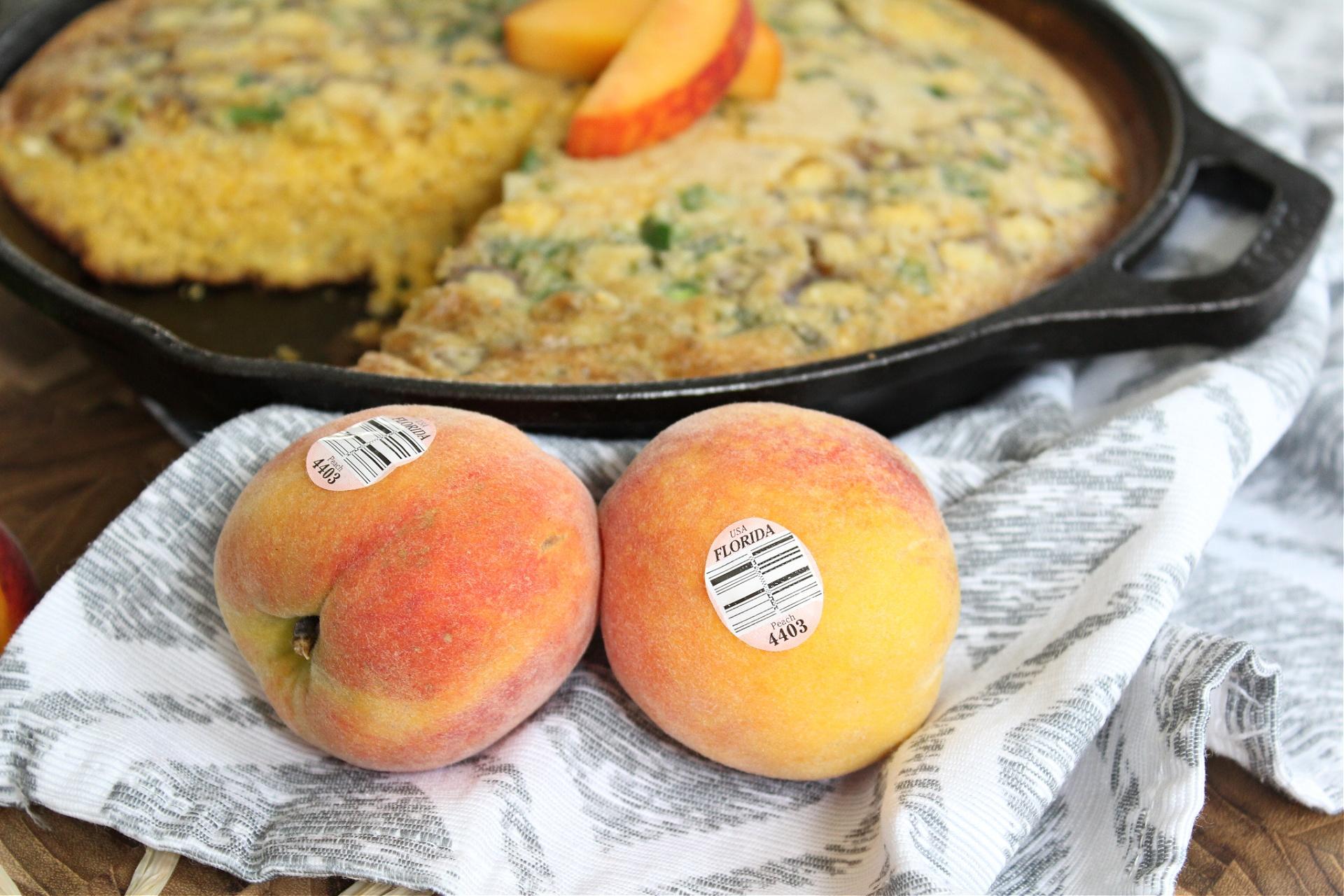 Easy Peach Jalapeno Cornbread