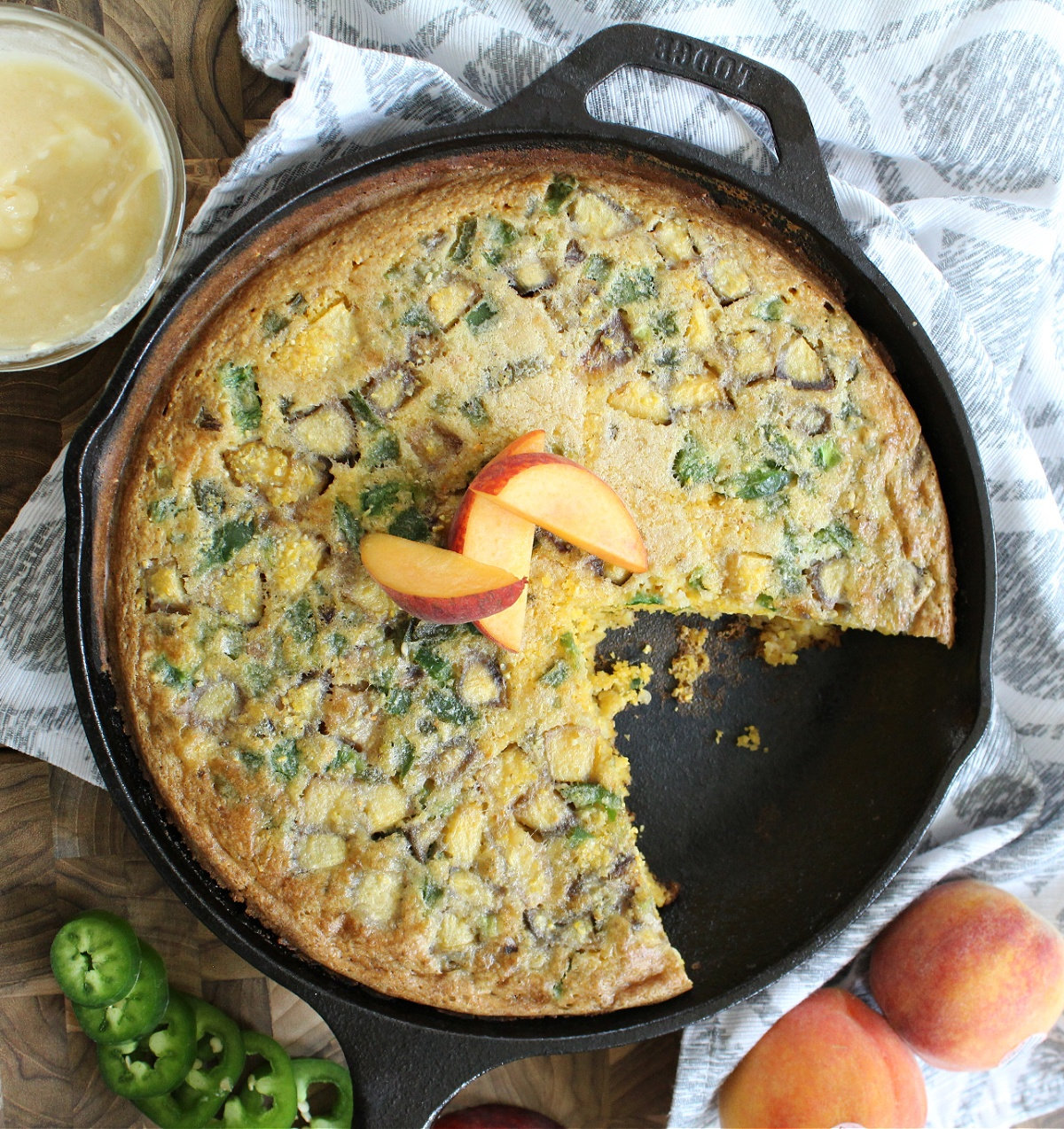 Peach Jalapeno Cornbread
