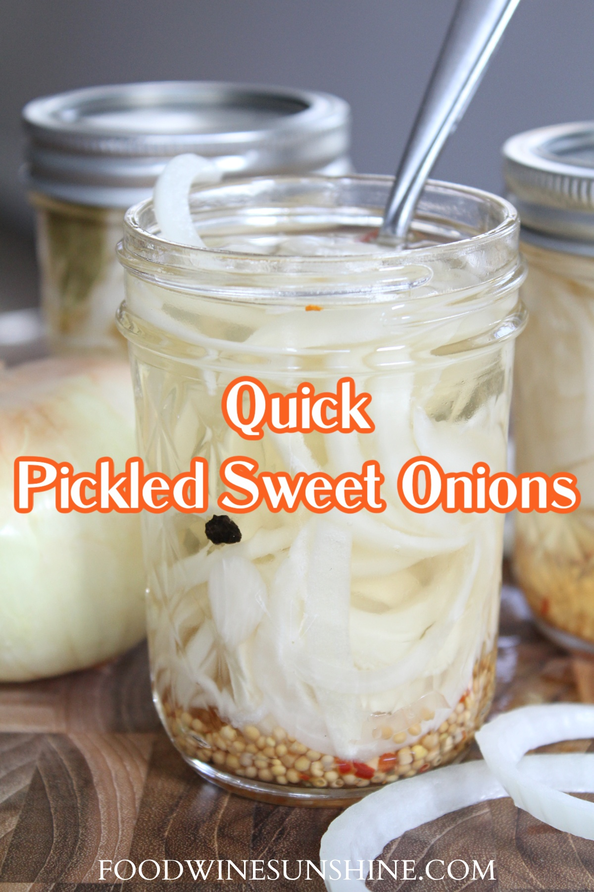 Making quick pickled sweet onions
