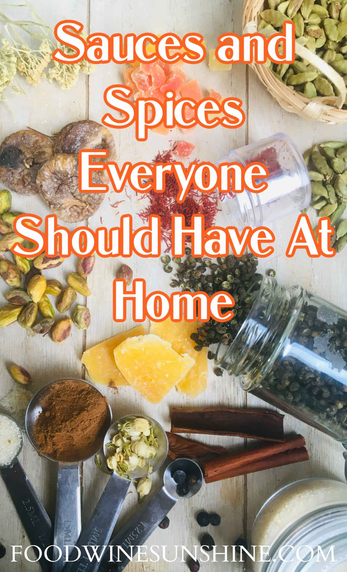 Sauces and Spices To Have at Home