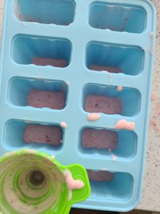 Making Red white blue popsicles