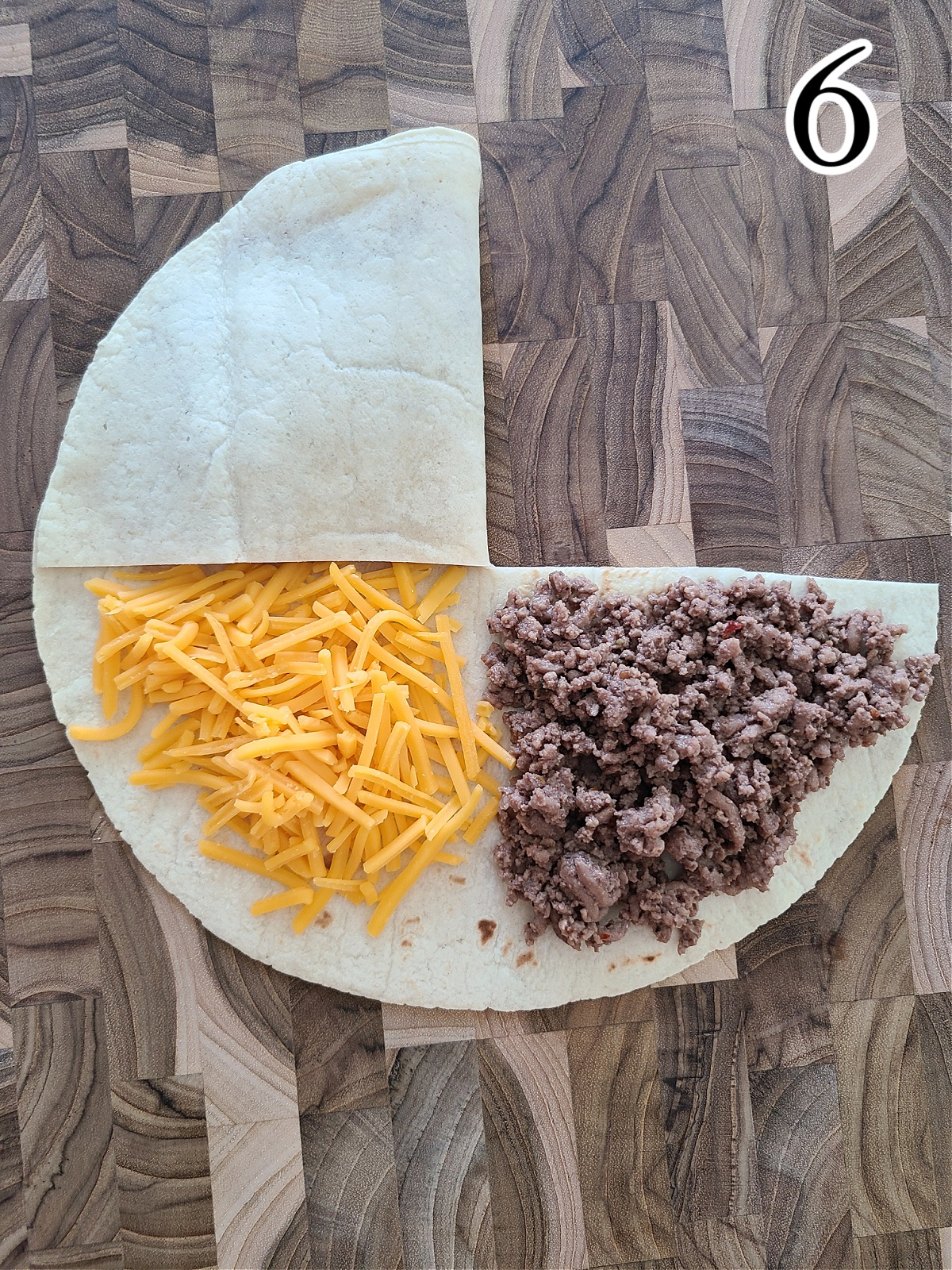 How to make Folded Tortilla Wraps