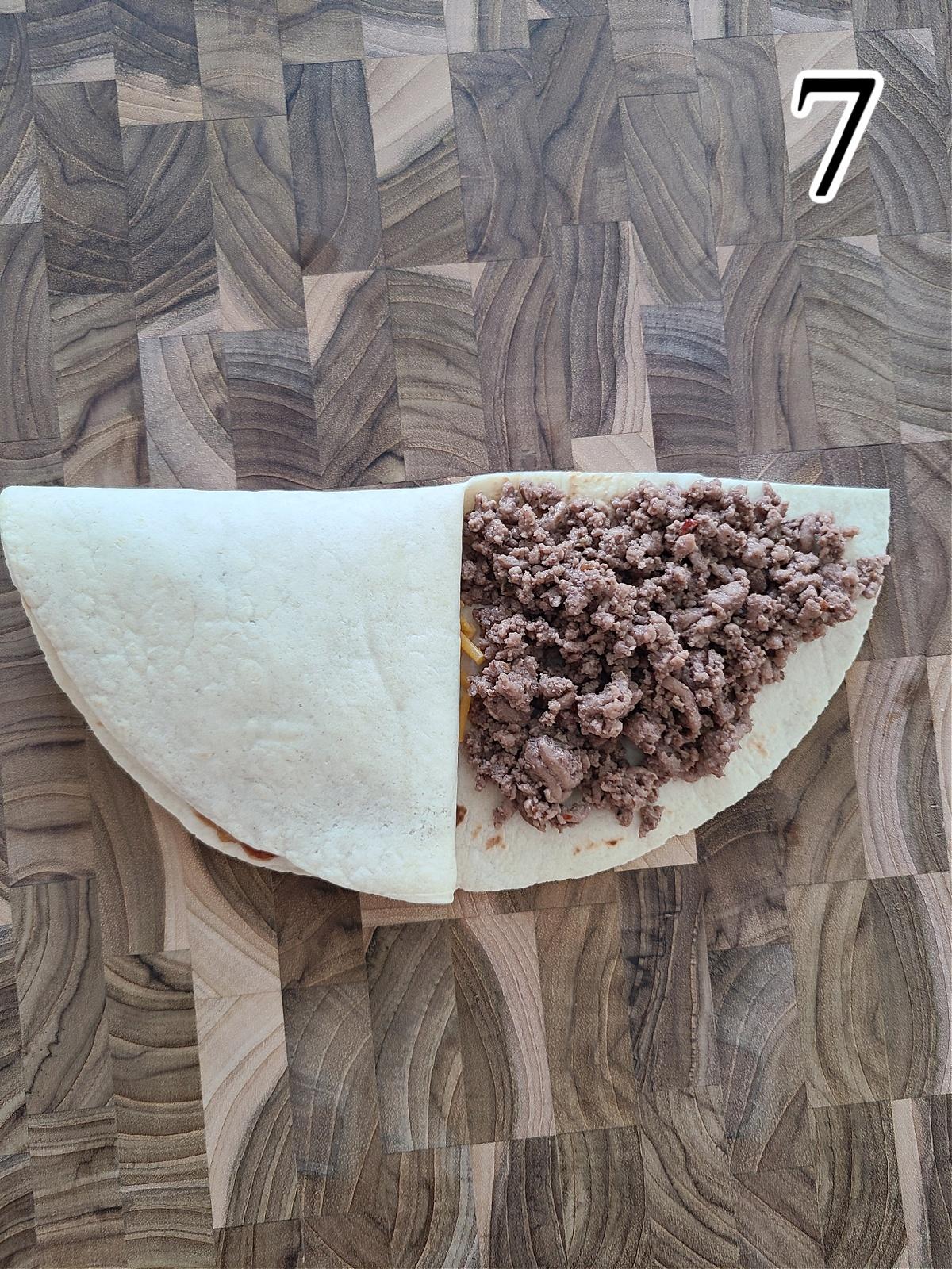 Step by Step TikTok Tortilla Wrap Instructions