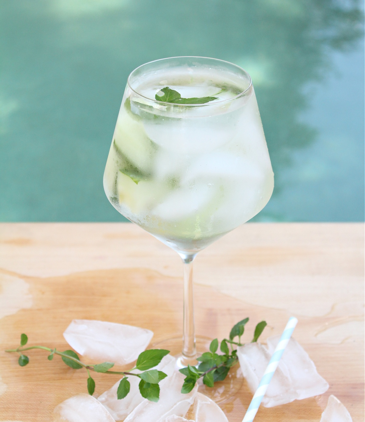 Low Calorie Cucumber Mint Cocktail