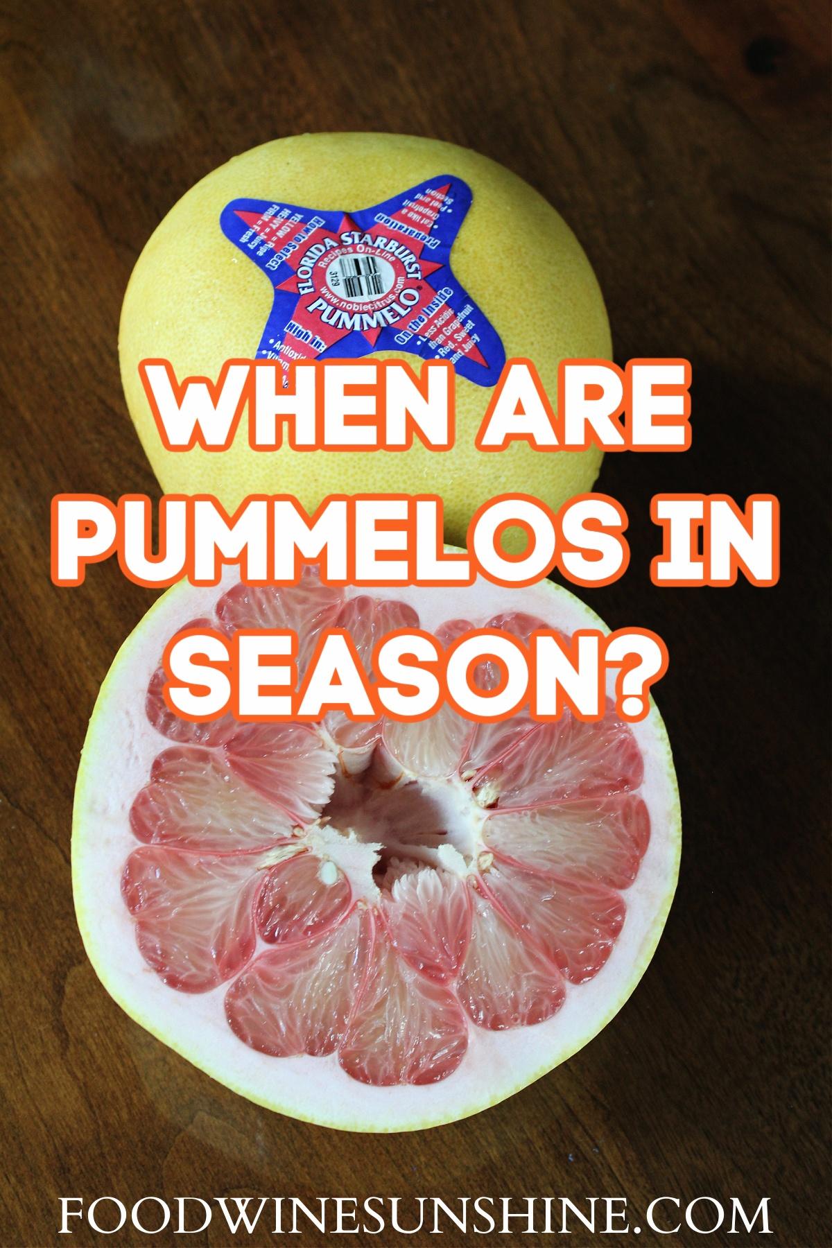 When Are Florida Pummelos In Season?