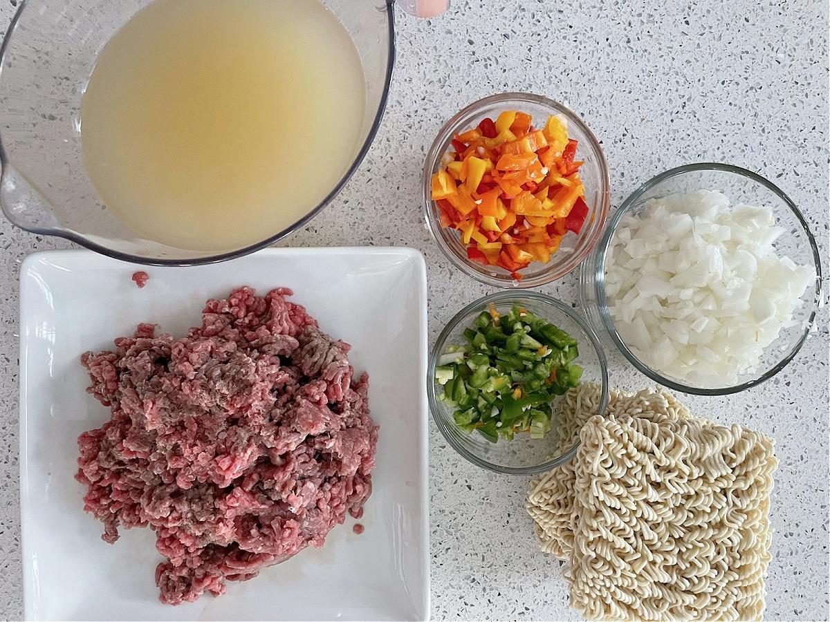 taco ramen ingredients
