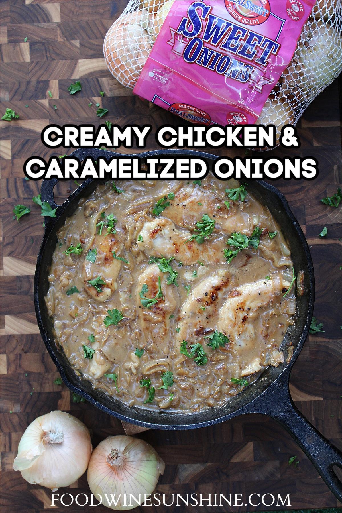 Chicken Caramelized Onions Recipe