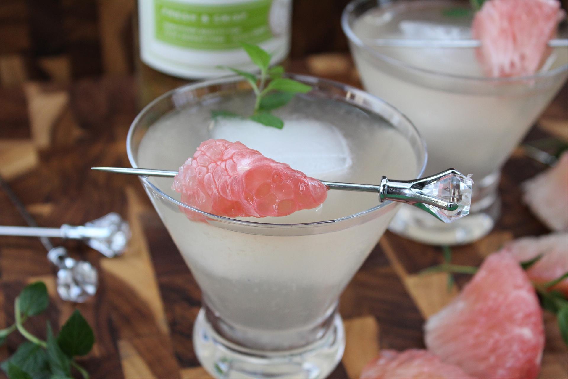 Pummelo and Mint Vodka Martini